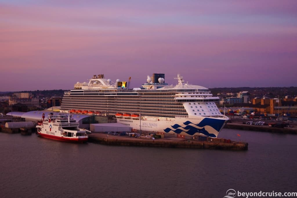 Royal Princess at Ocean Terminal, Southampton