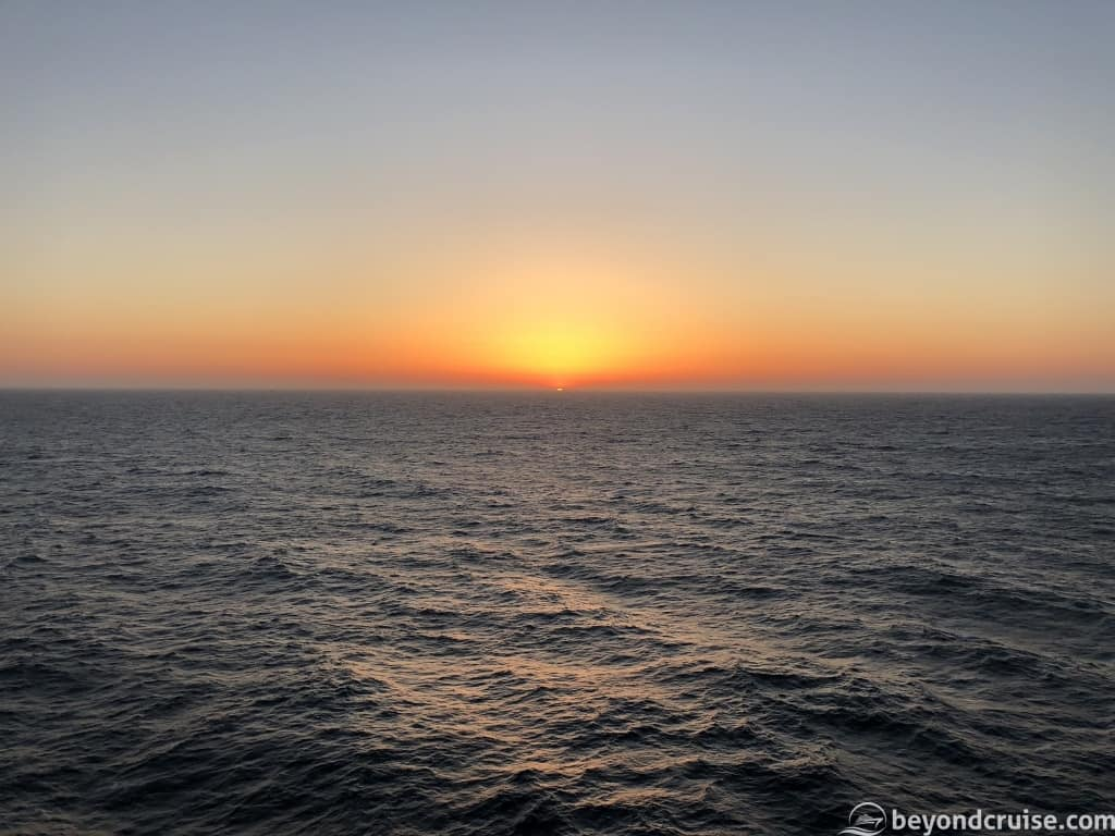 Sunset from MSC Magnifica