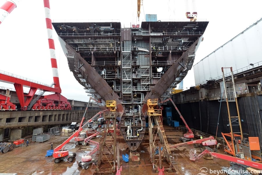 Symphony of the Seas under construction