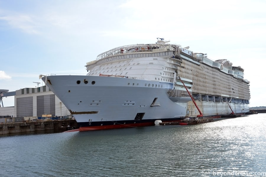 Symphony of the Seas fit out